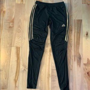 adidas half gold stripe track pants